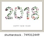Template Greeting Card 2018 Happy - Fine Art prints
