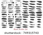 grungy brush strokes set over... | Shutterstock .eps vector #749315743