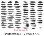 grungy brush strokes set over... | Shutterstock .eps vector #749315773