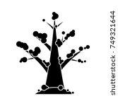 winter snow oak tree icon   Shutterstock .eps vector #749321644