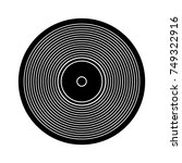 vinyl icon   Shutterstock .eps vector #749322916