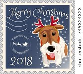 Postage Stamp With A Dog Fox...