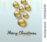 greeting card  invitation with... | Shutterstock .eps vector #749326339