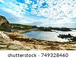 ballintoy  northern ireland ... | Shutterstock . vector #749328460