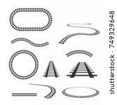 railway vector template. set of ... | Shutterstock .eps vector #749329648