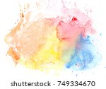 water colorful stains bright...   Shutterstock . vector #749334670