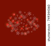 oval christmas background with... | Shutterstock .eps vector #749344360
