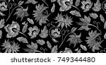 floral seamless background... | Shutterstock .eps vector #749344480