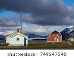 ny alesung in the svalbard... | Shutterstock . vector #749347240