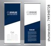 blue roll up business brochure... | Shutterstock .eps vector #749348728