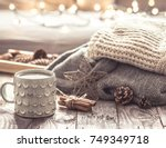 details of still life in the... | Shutterstock . vector #749349718