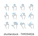touchscreen gesture icons for... | Shutterstock .eps vector #749354026