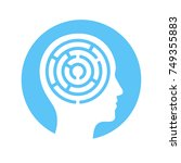 human head silhouette with maze ... | Shutterstock .eps vector #749355883