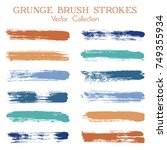 watercolor  ink or paint brush... | Shutterstock .eps vector #749355934