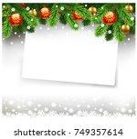 christmas wish letter  letter... | Shutterstock .eps vector #749357614