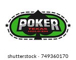 texas holdem poker emblem on... | Shutterstock .eps vector #749360170