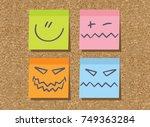 stickers  sticky  paper ...   Shutterstock . vector #749363284