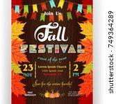 fall festival poster template....   Shutterstock .eps vector #749364289