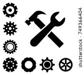 service tools icons isolated on ... | Shutterstock .eps vector #749366404