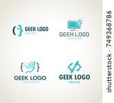geek logo. programmers icon   Shutterstock .eps vector #749368786