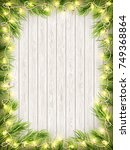 glowing warm christmas lights... | Shutterstock .eps vector #749368864