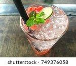 summer cold drink   lemonade... | Shutterstock . vector #749376058
