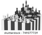 chess game   3d | Shutterstock . vector #749377729