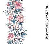 floral seamless pattern. flower ... | Shutterstock .eps vector #749377783