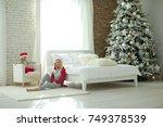 family in christmas | Shutterstock . vector #749378539