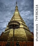 Golden Buddha Relics Or Pagoda  ...