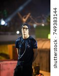 Small photo of SAINT PETERSBURG, RUSSIA - OCTOBER 29 2017: EPICENTER Counter Strike: Global Offensive cyber sport event. Team SK Gaming player from Brazil Fernando fer Alvarenga on a main stage before grand final