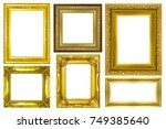 collection of gold vintage... | Shutterstock . vector #749385640
