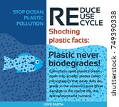 stop plastic pollution reduce ... | Shutterstock .eps vector #749390338