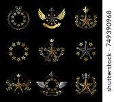 military stars emblems set.... | Shutterstock .eps vector #749390968