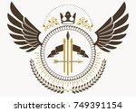 vector illustration of old... | Shutterstock .eps vector #749391154