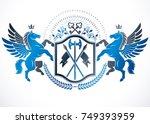 heraldic coat of arms... | Shutterstock .eps vector #749393959