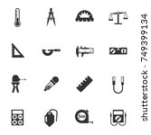 measuring tools vector icons... | Shutterstock .eps vector #749399134