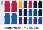 basketball uniform template...   Shutterstock .eps vector #749407438