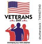 vector illustration of veterans ... | Shutterstock .eps vector #749407540