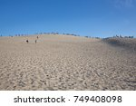 arcachon bay  france  dune of... | Shutterstock . vector #749408098