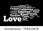 love word cloud | Shutterstock . vector #749411878