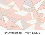 pink grey geometry background. | Shutterstock .eps vector #749412379