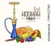 vector illustration  big hookah ... | Shutterstock .eps vector #749412760