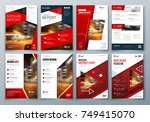 set of business cover design... | Shutterstock .eps vector #749415070