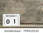 white block calendar present... | Shutterstock . vector #749415133