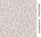seamless damask pattern.... | Shutterstock .eps vector #749423560