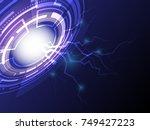 geometric vector background ... | Shutterstock .eps vector #749427223