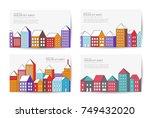 christmas winter landscape flat ...   Shutterstock .eps vector #749432020