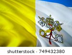 vatican city state flag. papal... | Shutterstock . vector #749432380