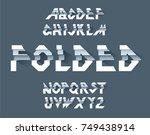 folded paper alphabet vector...   Shutterstock .eps vector #749438914